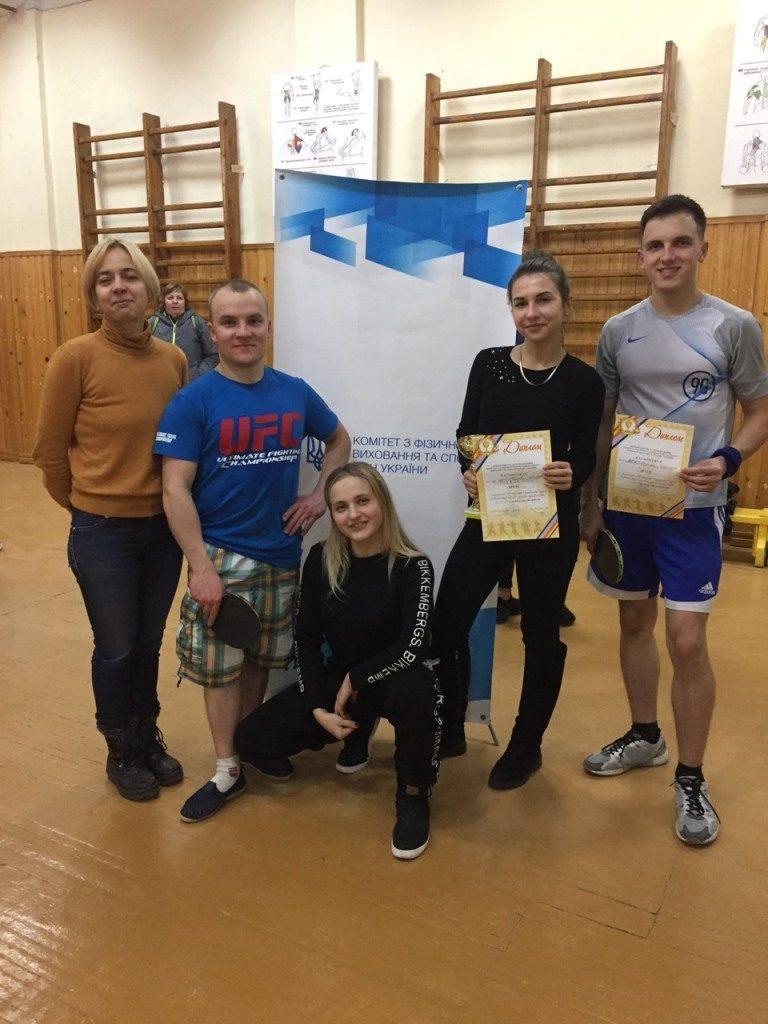 Студенти БДМУ – в числі переможців обласних змагань з настільного тенісу