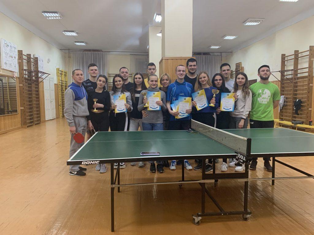 Збірна БДМУ посіла призове ІІ місце на Обласних студентських спортивних іграх з настільного тенісу
