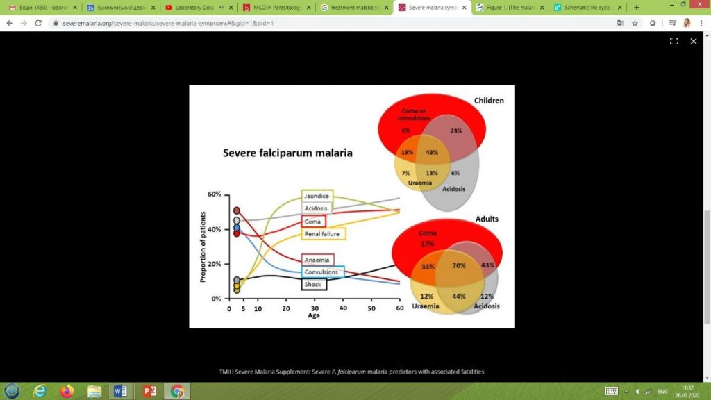 Distant learning of infectious diseases – malaria practical on-line session with foreign students
