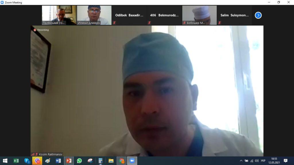 Професор БДМУ в рамках академічної мобільності прочитав цикл лекцій для студентів інтернів та резидентів - хірургів Самаркандського медичного інституту (Республіка Узбекистан)